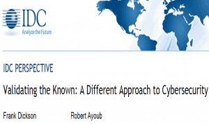 IDC PERSPECTIVE Validating the Known